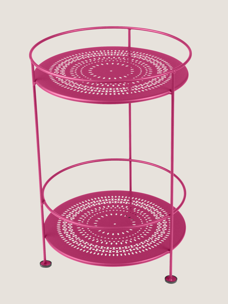 Gueridons Double Top Perforated-  Fuchsia