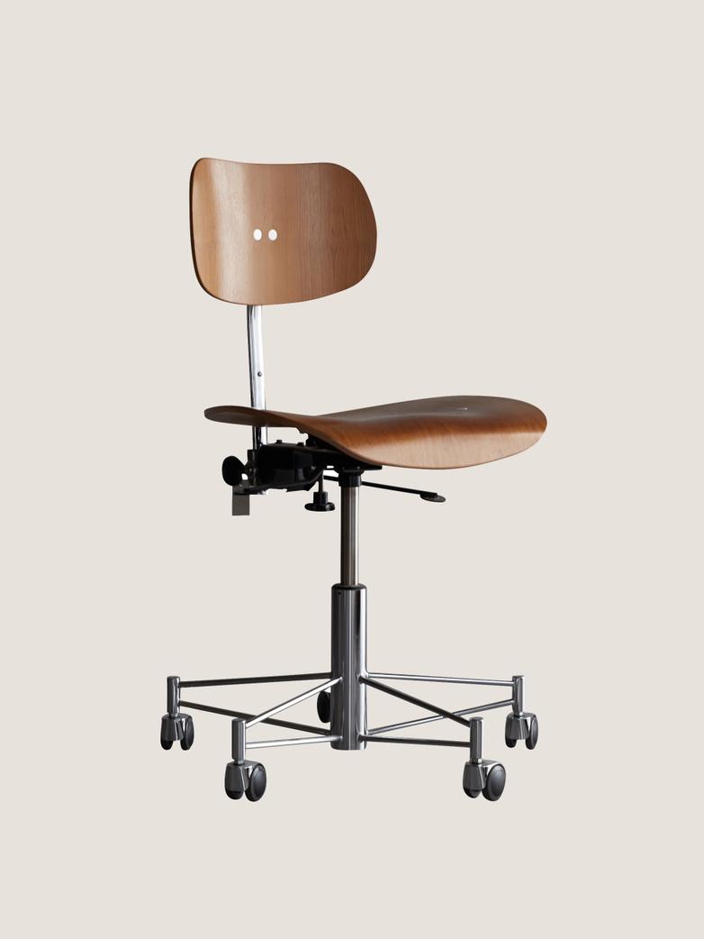 Eiermann SBG197R Office Chair - Teak