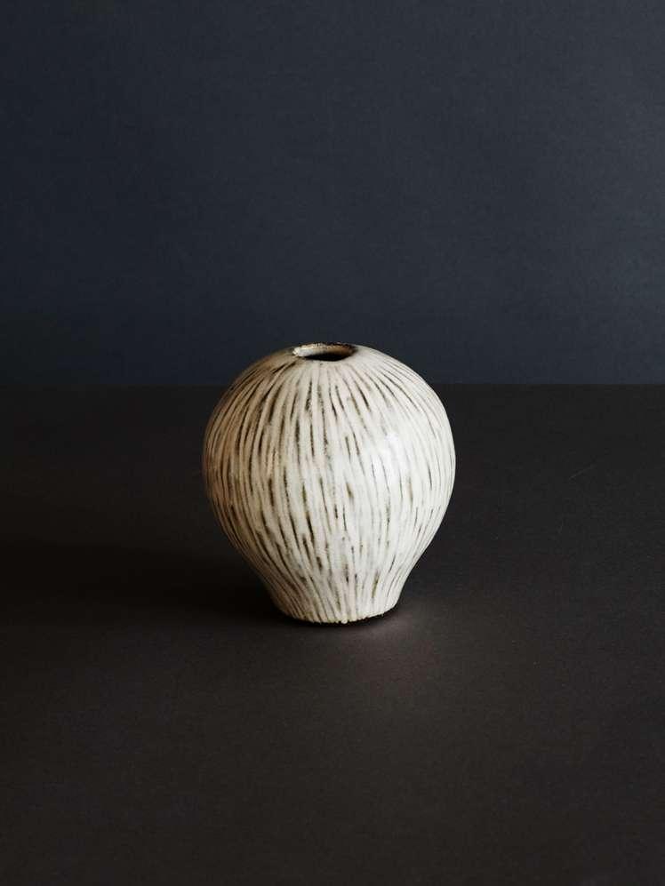 Coconut Heart Vase - White