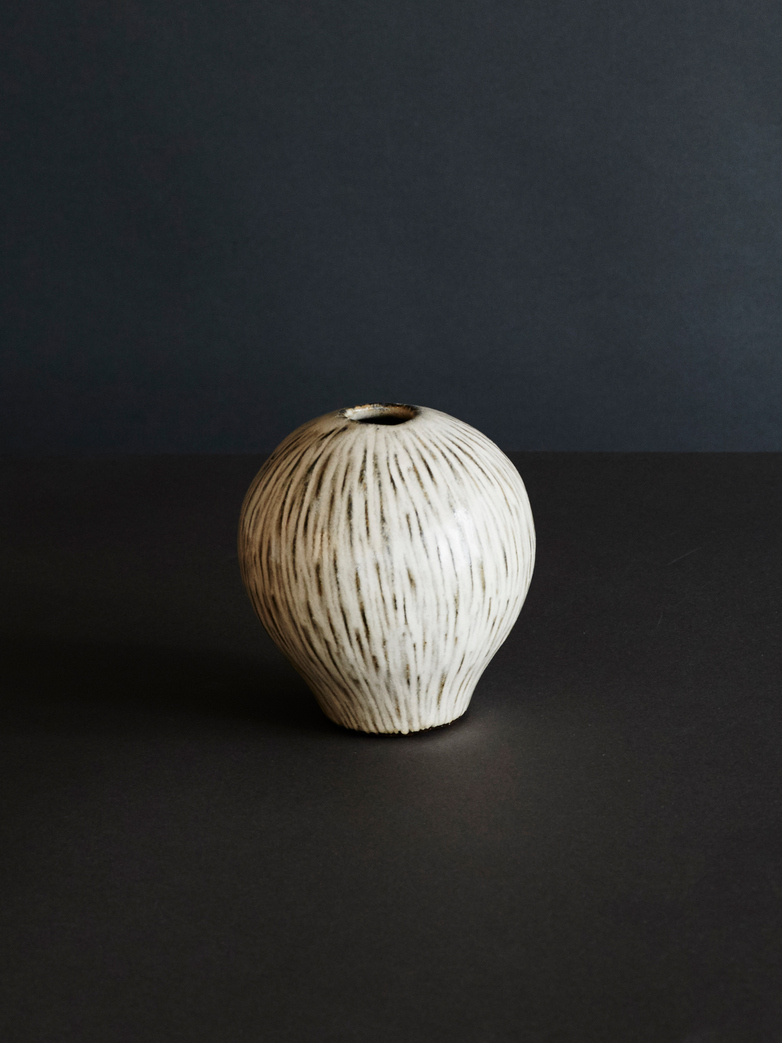 Coconut Heart Vase - White