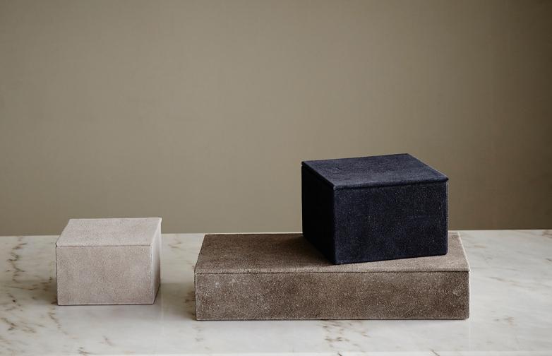 Medium Suede Box Blue