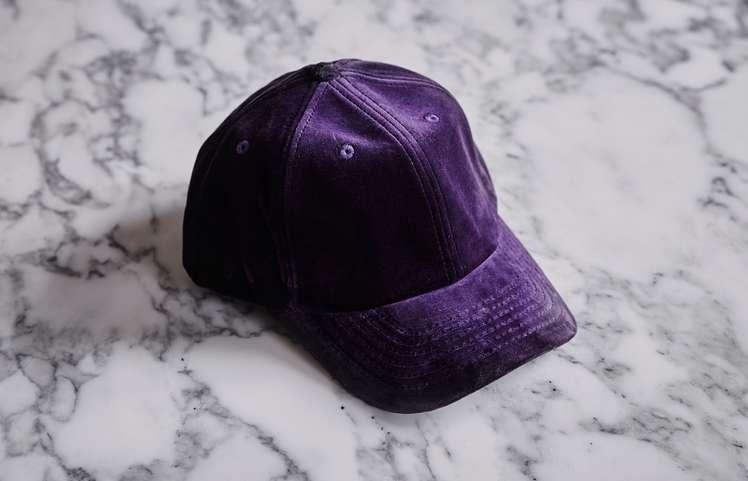 Velvet Cap Dark Purple