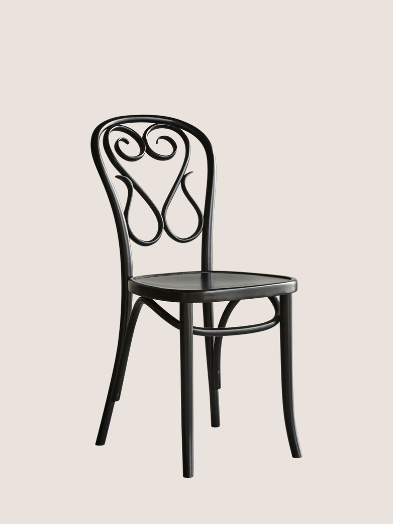 Chair A4 Wood Seat - Black
