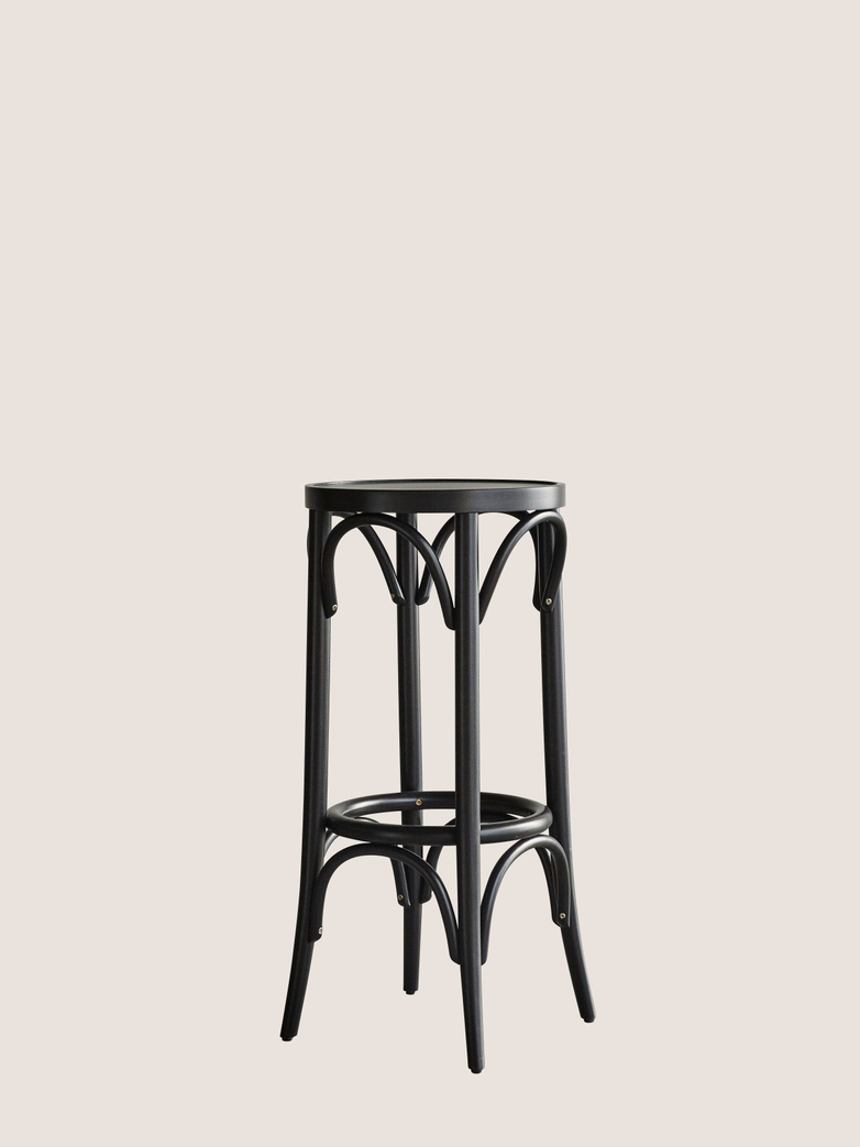Barstool No 73 - Black - Wood seat