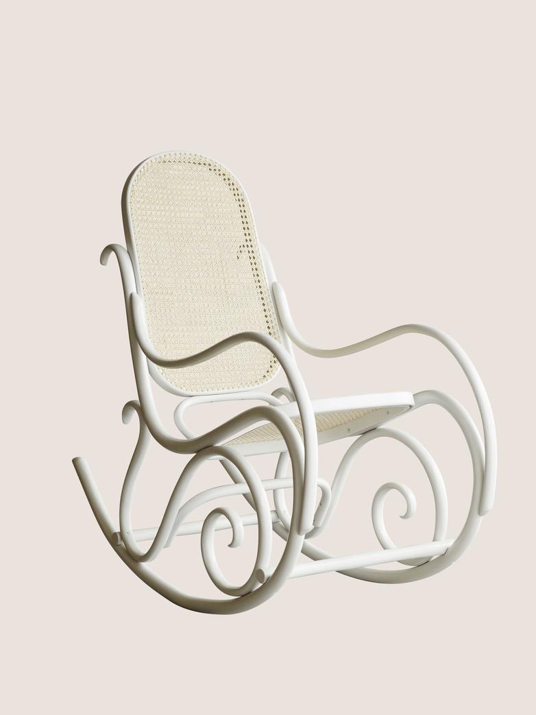 Rocking Chair - White - Cane
