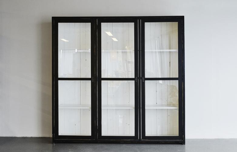 Vintage Black & White Cabinet