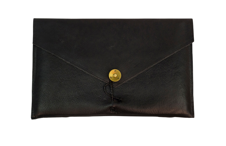 Laptop cover 13 Black Leather