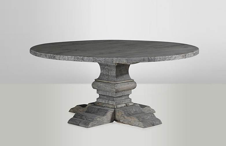 Column Round Table Grey