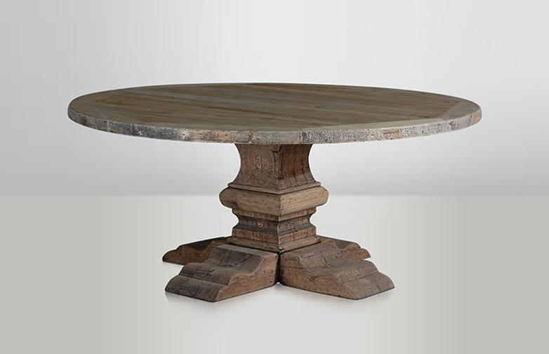 Column Round Table Nature
