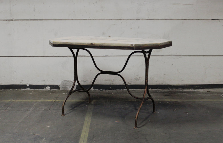 Vintage Garden Table Wood Top