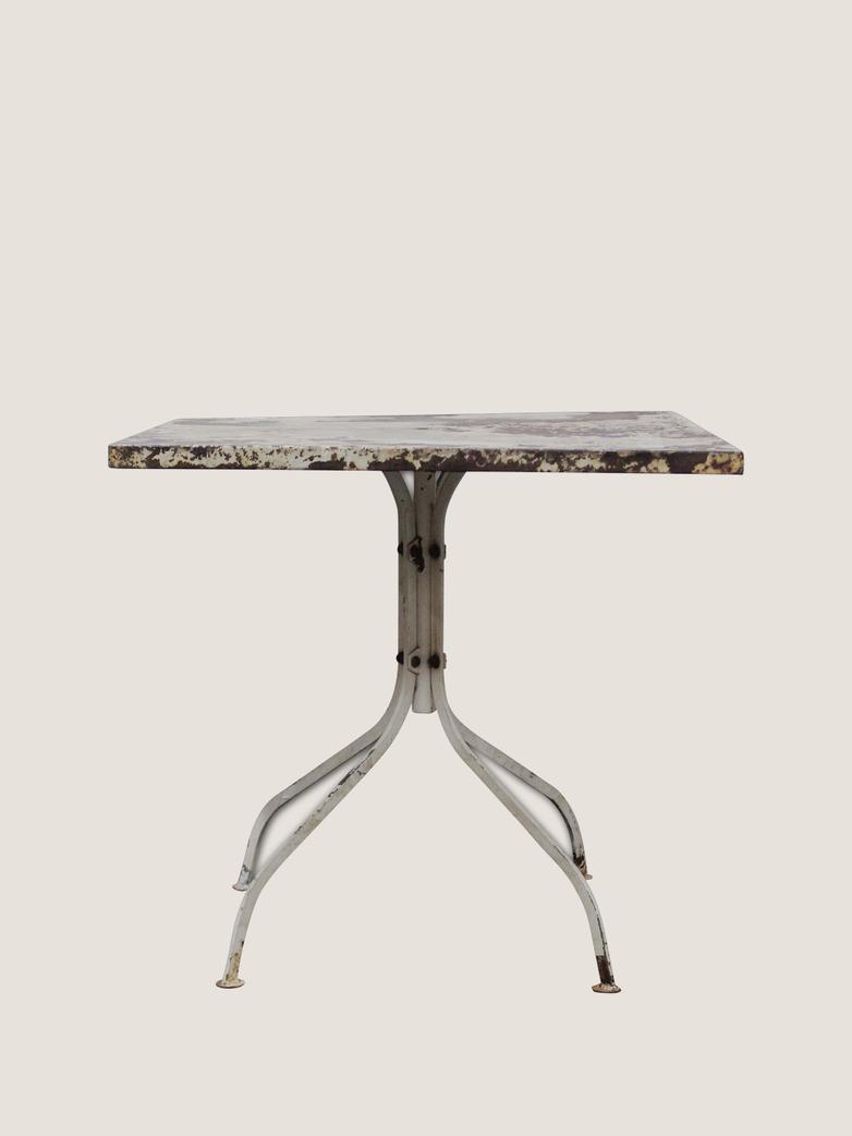 Garden Table Metal Top