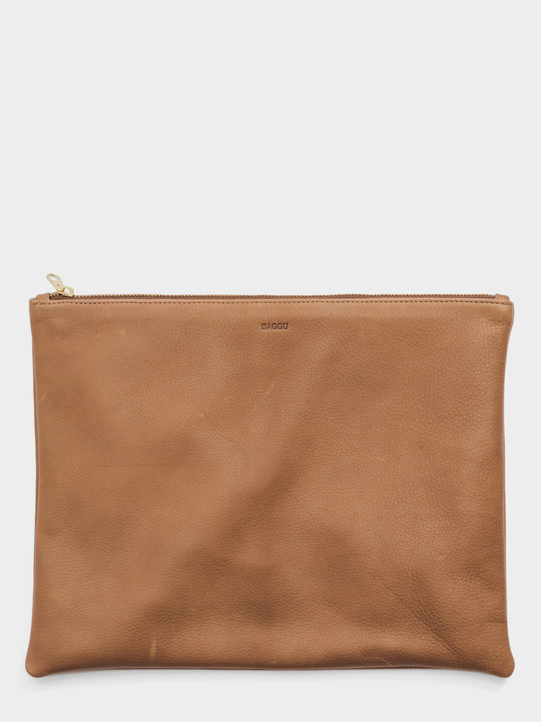 Large Flat Pouch Saddle - Brown
