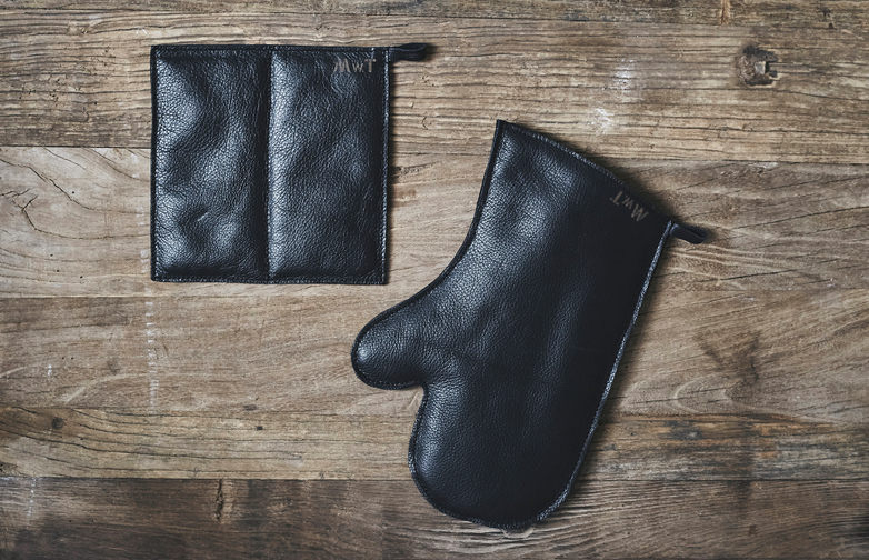 Leather Glove And Sleeve Set