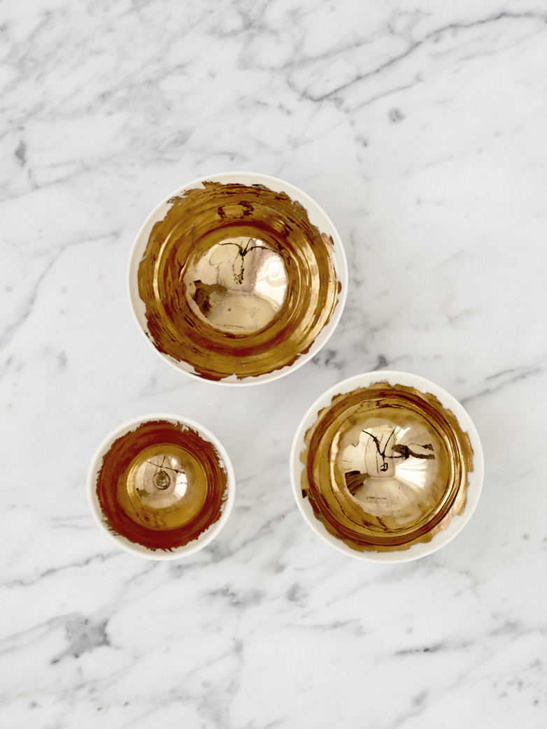 Gold Painted Bowls