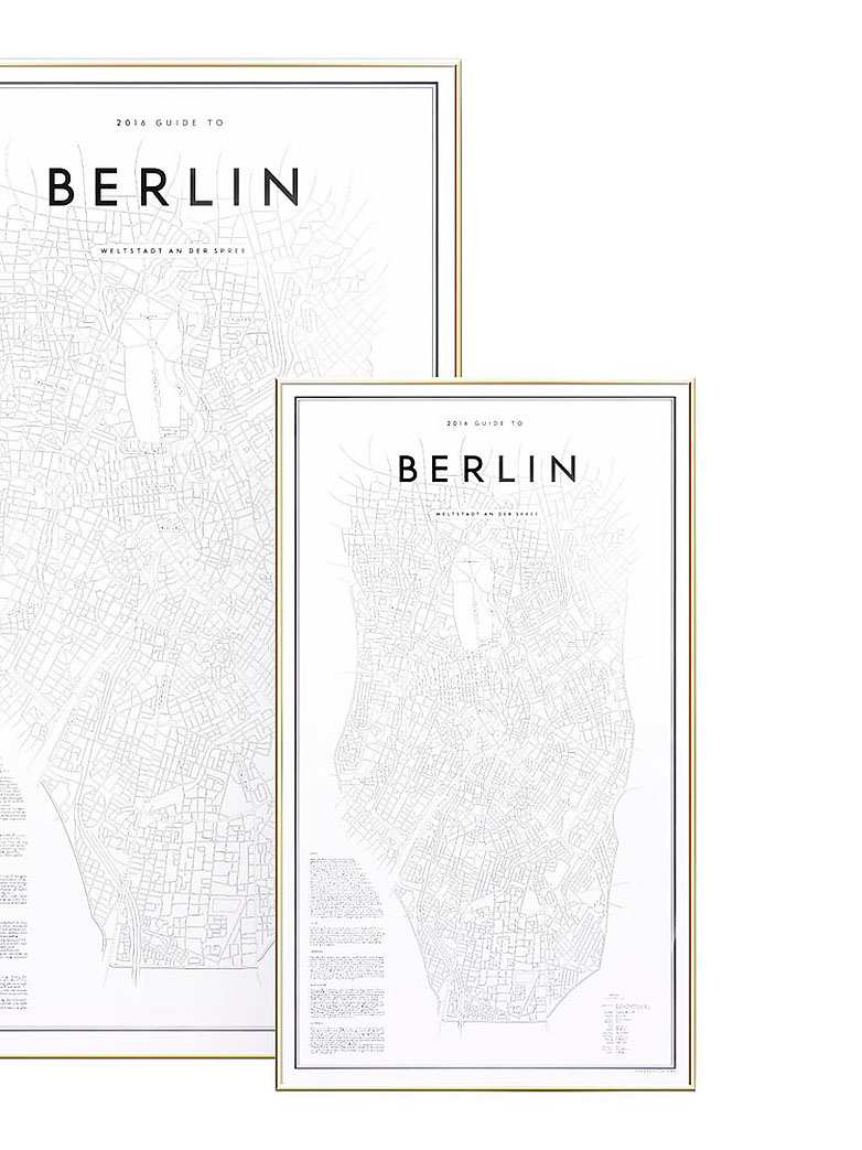 Guide to Berlin 42x70 cm