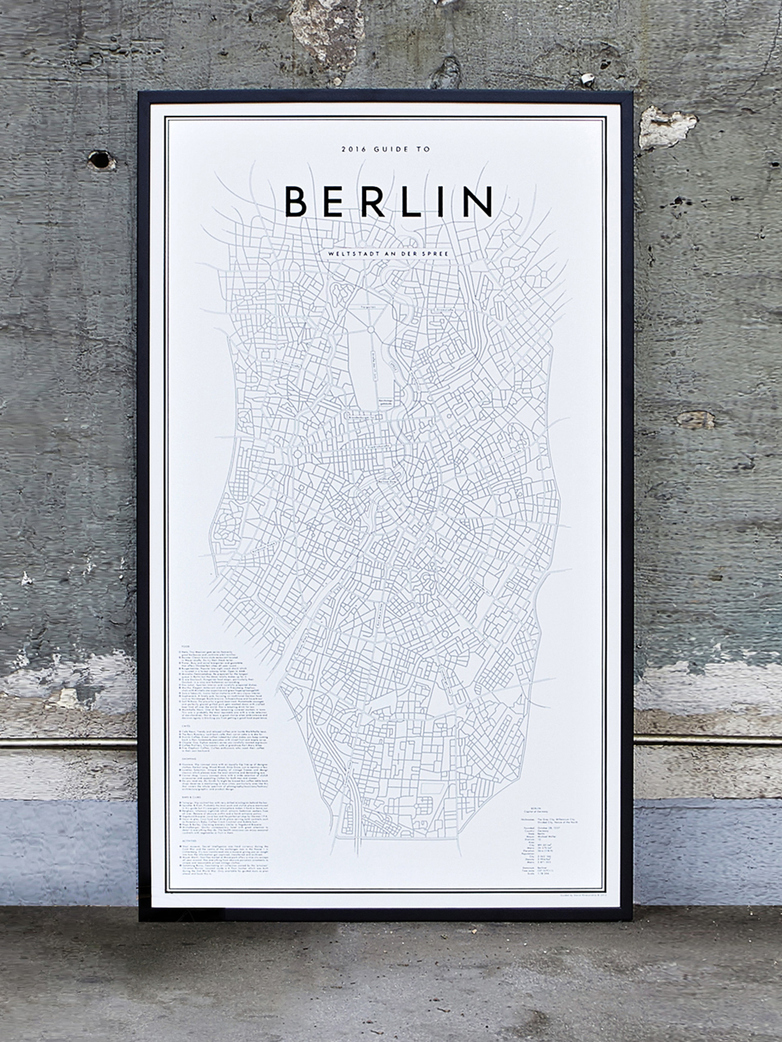 Guide to Berlin 58x100 cm