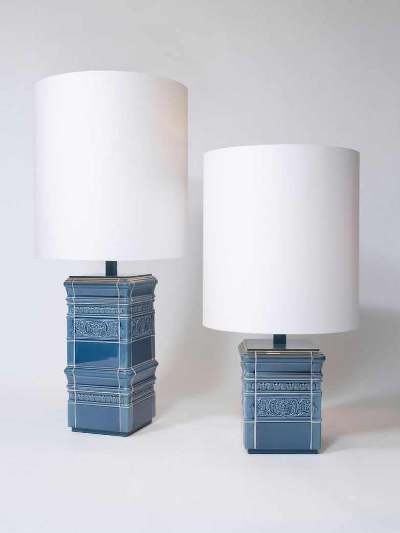 Tile Lamp Blue