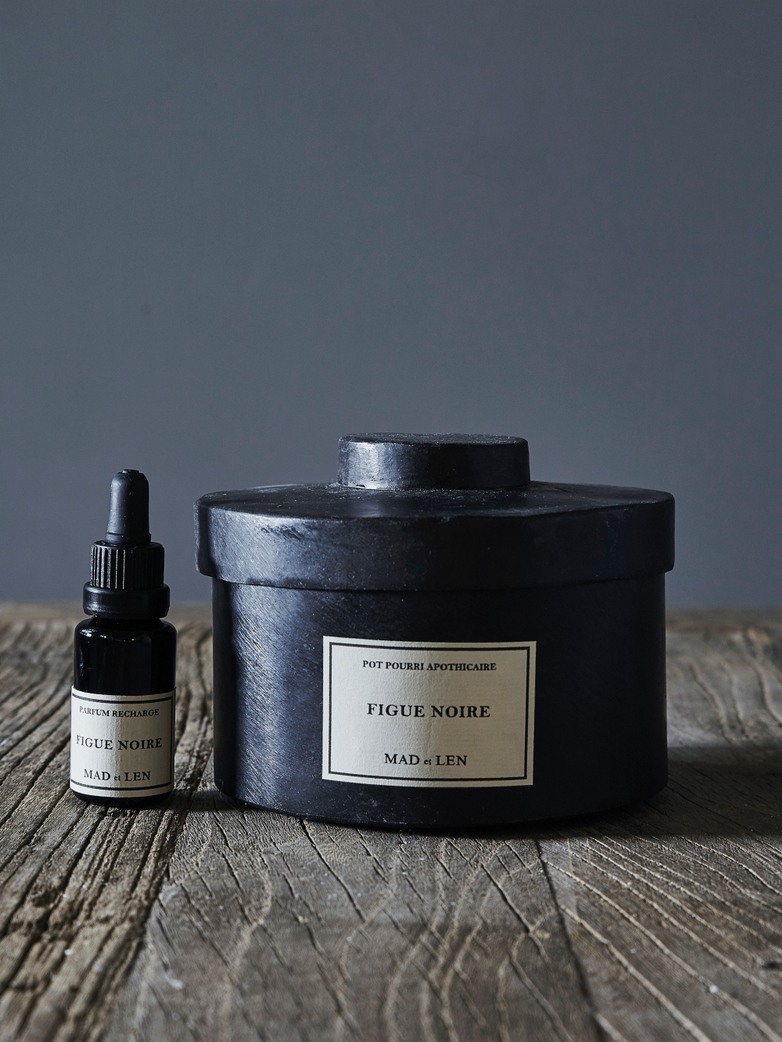 Pot Pourri Lava Rock: Figue Noir