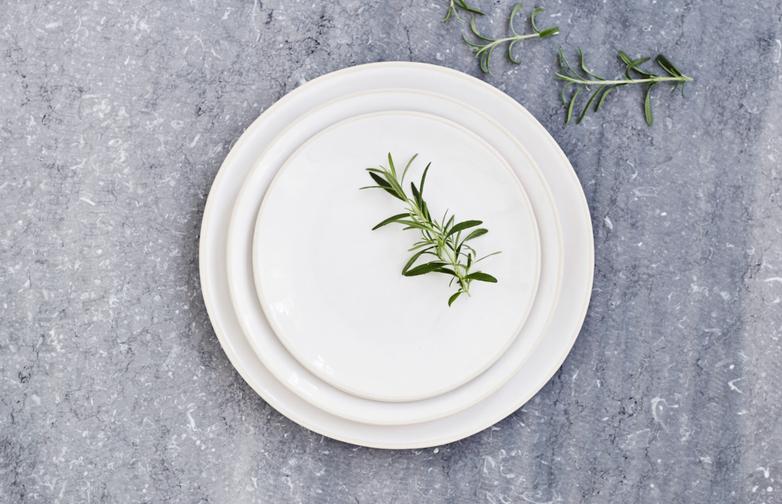 Organic Dinner Plates White
