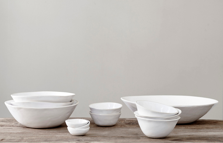 Organic Dinner Bowls White