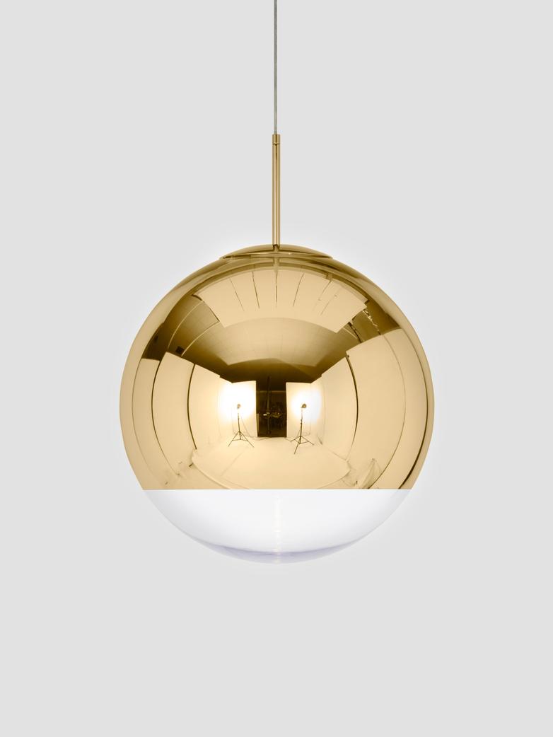 Mirror Ball Pendant Gold